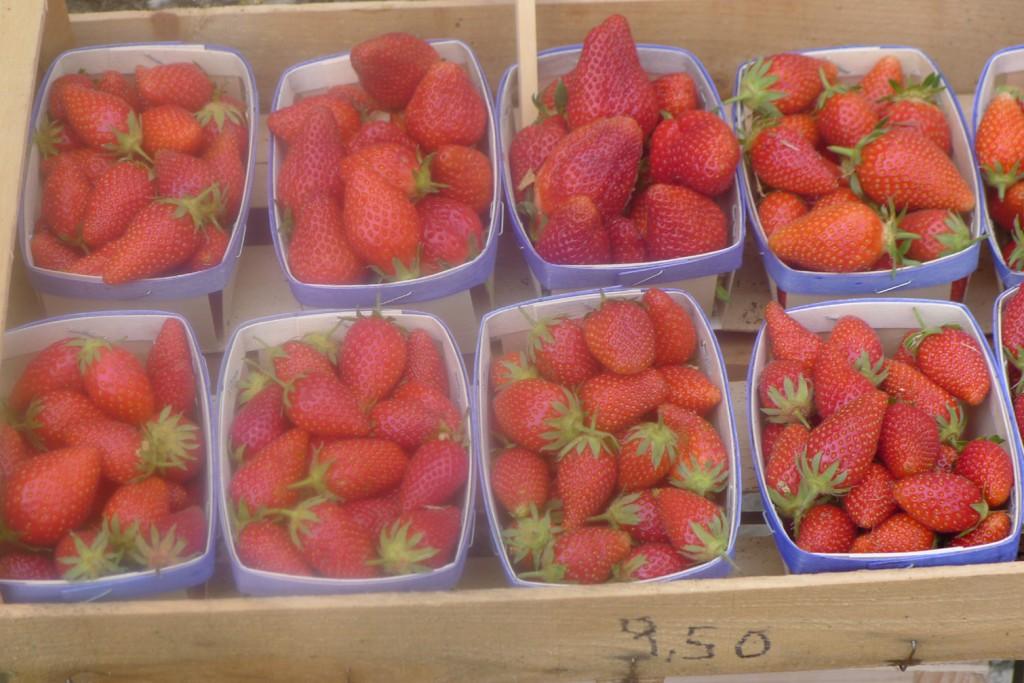 fraise en plateau