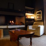 salon feu de cheminée